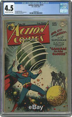 Action Comics #111 CGC 4.5 1947 1396970017