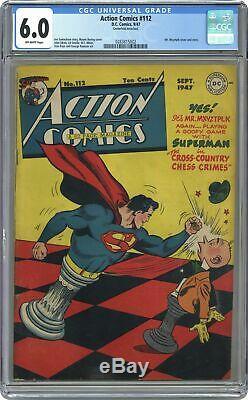 Action Comics #112 CGC 6.0 1947 0283815002