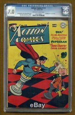 Action Comics #112 CGC 7.0 1947 1255159003