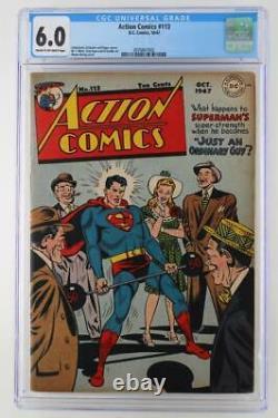 Action Comics #113 CGC 6.0 FN DC 1947 Superman