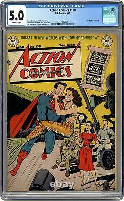 Action Comics #130 CGC 5.0 1949 3717172001