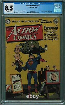 Action Comics #151 Cgc 8.5 4th Best Cgc Copy White Pages 1950