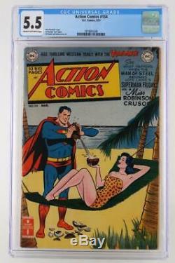 Action Comics #154 CGC 5.5 FN- DC 1951 Superman