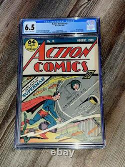 Action Comics 15 CGC 6.5 FN+ OWithW DC 1939 3rd Superman Cover RARE 1939 NYWF Ad