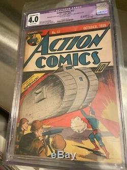 Action Comics #17, 6th Superman Cover, Classic, CGC Graded 4.0 (C-2)