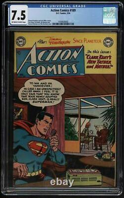 Action Comics 189 CGC VFN minus Only twenty tne known copies