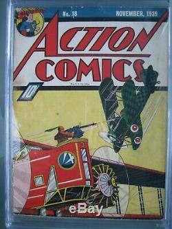 Action Comics #18 CGC 3.5 WP 1939 Origin & 1st app Three Aces