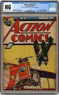 Action Comics #18 CGC NG Front Cover & pages 8, 13-16 & 24-27 Only 1257593001