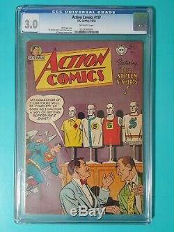 Action Comics 197 CGC 3.0 Superman The Stolen S Shirts Congo Bill Vigilante