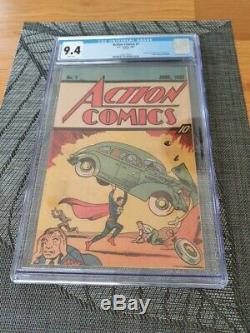 Action Comics #1 1987 Reprint CGC 9.4 DC Comics