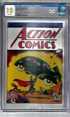 Action Comics #1 (2018) Pure Silver Foil Cgc Graded 10 Action Comic Book