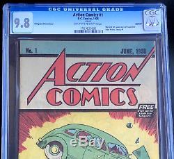 Action Comics #1 9.8 CGC Safeguard Promotional 1976 Reprint 1st Superman