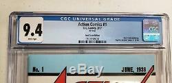 Action Comics #1 CGC 9.4 Comic Book Loot Crate Exclusive Variant Superman 2017
