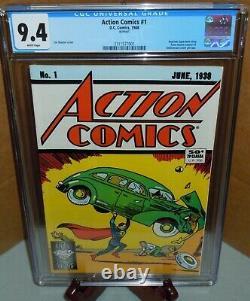 Action Comics #1 CGC 9.4 Reprint 1988 DC Comics 1st app. Superman