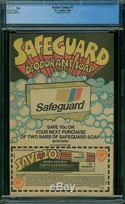Action Comics 1 CGC 9.6 White Pages 1976 Safeguard Reprint