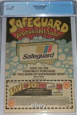 Action Comics #1 CGC 9.8 Safeguard Promotional from 1976 1st Superman reprint