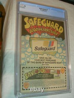 Action Comics #1 CGC 9.8 White Safeguard 2nd printing 1976 WOW