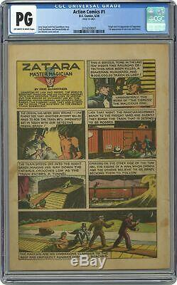 Action Comics #1 CGC PG 10th Page Only 2016059001 1st app. Superman