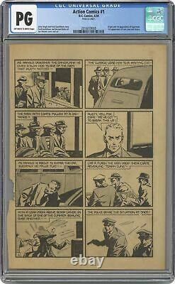 Action Comics #1 CGC PG 24th Page Only 2016059008 1st app. Superman