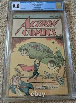 Action Comics #1 CGC graded 9.8 Safeguard Promotional (1976) 1st Superman