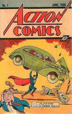 Action Comics #1 Cgc 9.6 First Superman Rare 10-cent Sleeping Bag Reprint 1976