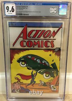 Action Comics #1 Cgc 9.6 New Zealand Mint Replica Image 35g. 999 Fine Silver
