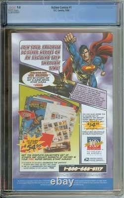 Action Comics #1 Cgc 9.8 White Pages Reprint