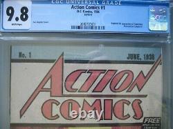 Action Comics #1 Safeguard CGC 9.8 WP 1976 Reprints 1st app Superman 2nd Print