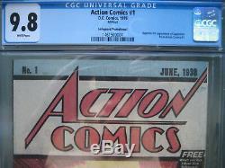 Action Comics #1 Safeguard Promotional Reprint CGC 9.8 WP 1976 1st app Superman