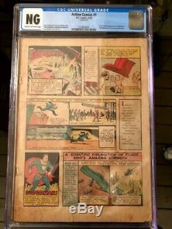 Action Comics #1 Universal 1st Superman Cgc Unrestored King Of Grails Rare