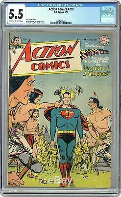 Action Comics #200 CGC 5.5 1955 2056219001
