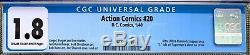 Action Comics #20 (1940) CGC 1.8 - Missing S on Superman's chest Ultra app