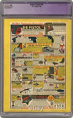 Action Comics #20 CGC 6.0 RESTORED 1940 1250348001