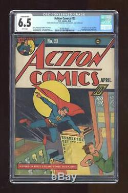 Action Comics #23 CGC 6.5 CONSERVED 1940 1399196002 1st app. Lex Luthor