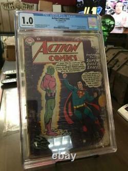 Action Comics #242 CGC 1.0 1st Braniac DC Superman 1958 Silver Age KEY GRAIL