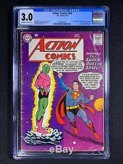 Action Comics #242 CGC 3.0 (1958) 1st app of Braniac HOT & PRICED TO SELL