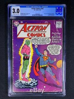 Action Comics #242 CGC 3.0 (1958) Org and 1st app of Brainiac NO RESERVE