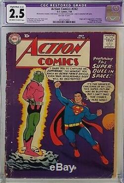 Action Comics #242 Cgc 2.5 10 Cent 1st Brainiac Kandor