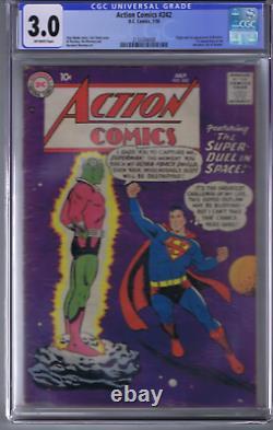 Action Comics #242 DC Pub 1958 CGC 3.0 (G/VG) 1st appearance/Origin Brainiac