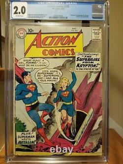 Action Comics #252 1st App Supergirl & Metallo CGC 2.0