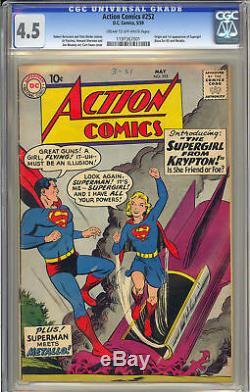 Action Comics #252 1st App. Supergirl Movie Key DC Superman 1959 CGC 4.5