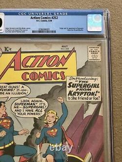 Action Comics # 252 CGC 4.0 1st APPEARANCE & ORIGIN of SUPERGIRL Metallo 1959