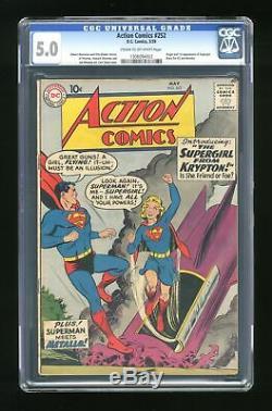 Action Comics #252 CGC 5.0 1959 1308094002 1st app. Supergirl