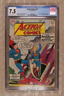 Action Comics #252 CGC 7.5 1959 1992530001 1st app. Supergirl