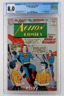 Action Comics #255 CGC 8.0 VF DC 1959 Superman 1st App Bizarro Lois