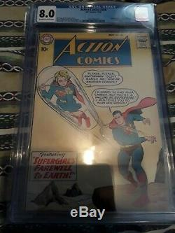 Action Comics #258 CGC 8.0 VF Supergirl Discovers Superman's Identity