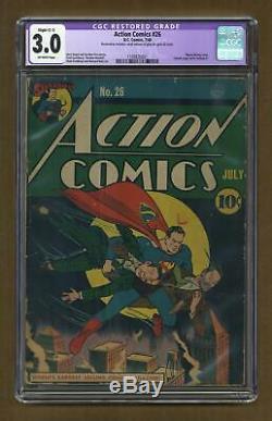 Action Comics #26 CGC 3.0 RESTORED 1940 1169826001
