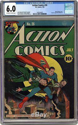 Action Comics #26 CGC 6.0 1940 1482249001