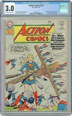 Action Comics #276 (5/61, DC) CGC 3.0 GD/VG (1st Brainiac 5, Phantom Girl) KEY