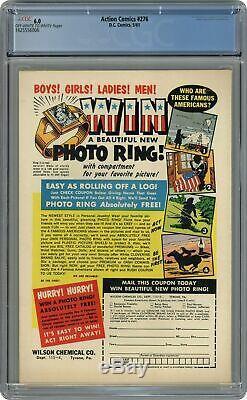 Action Comics #276 CGC 6.0 1961 1625556006